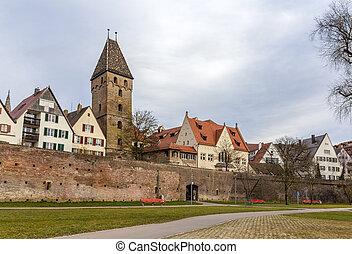 stadt, baden-wurttemberg, -, ulm, deutschland, ansicht