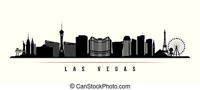 stadt, banner., skyline, las vegas, horizontal, las