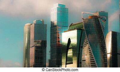 stadt, bezirk, neu , russland, gelegen, zentral, zentrieren...