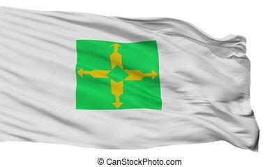 stadt, brasil, föderativ, fahne, freigestellt, distrito