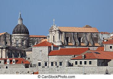 stadt, dubrovnik, historisch, kroatien, ansicht