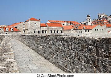 stadt, dubrovnik, historisch, kroatien