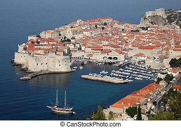 stadt, dubrovnik, historisch, kroatisch, ansicht