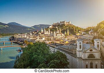 stadt, festung, salzburg, berühmt, österreich, historisch
