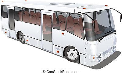 stadt, freigestellt, bus