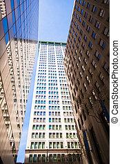 Stadt, Gebäude,  highrise, finanziell, Wand, Bezirk, straße,  york, neu
