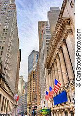 Stadt, Gebäude, Wand, straße,  york, neu,  Manhattan