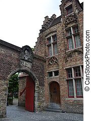 stadt, gebäude, zentrieren, historische , belgien, brugge