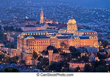stadt, hügel, hofburg, budapest, castle., ungarn, ansicht