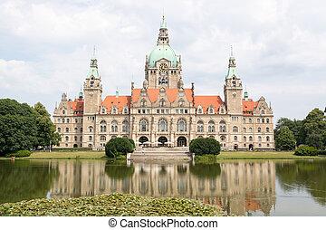 stadt, hannover, deutschland, neu , halle, landschaftsbild
