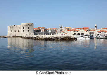 stadt, historisch, kroatien, dubrovnik, ansicht