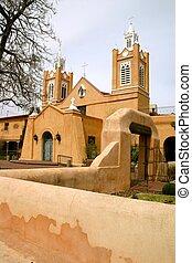 stadt, iglesia, altes