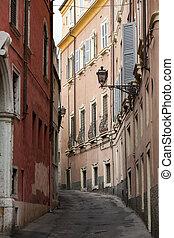 stadt, italien, zentrieren, verona., historisch, straße