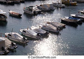 stadt, kroatien, alter hafen, dubrovnik
