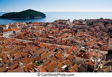 stadt, kroatien, altes , dubrovnik, ansicht