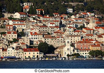stadt, kroatien, altes , sibenik