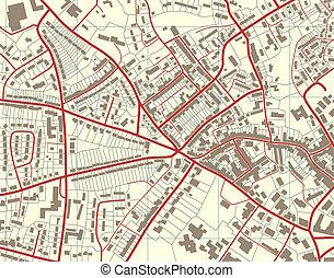 stadt, landkarte