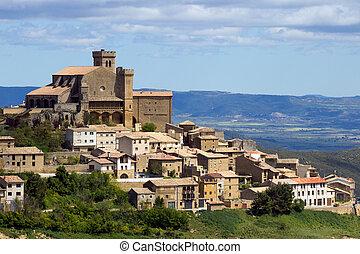 stadt landschaft, historisch, navarra, spanien