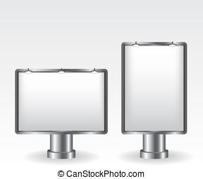 stadt- licht, werbewand, abbildung
