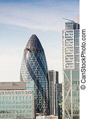 stadt london, an, dämmerung, vereinigtes königreich