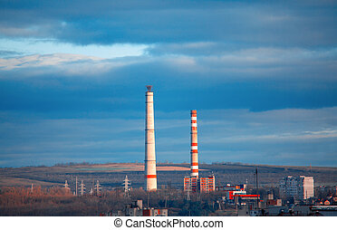stadt, luftverschmutzung