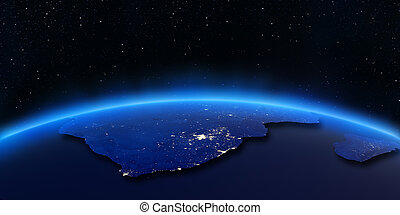 stadt, madagaskar, landkarte, afrikas, lichter, süden