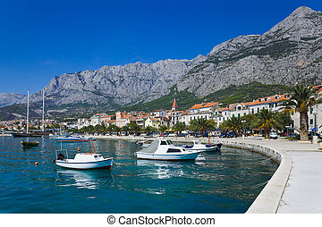 stadt, makarska, kroatien