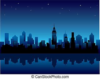 stadt, nacht