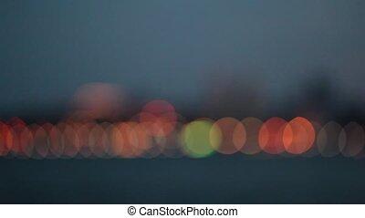 stadt, nacht, verwischen, licht