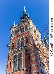 stadt, oldenburg, altes , zentrieren, historische , halle