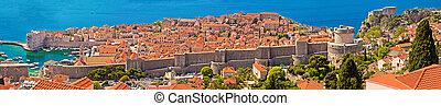 stadt, panoramisch, historisch, ansicht, dubrovnik
