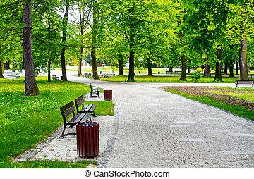 stadt- park, grün