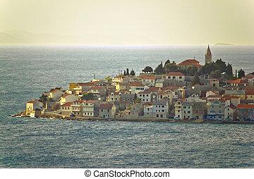 stadt, primosten, adriatisches meer