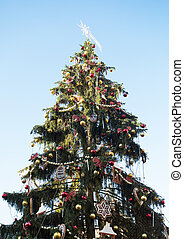 stadt quadrat, altes , prag, treeon, weihnachten