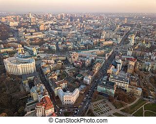 stadt, quadrat, angelegenheiten, sofievskaya, ministerium, michael's, str., kyiv, vladimirsky, intern, kathedrale, proyezd, zentrieren