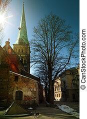 stadt, riga, alte kirche