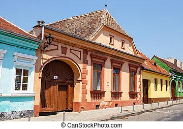 stadt, rumänien, mittelalterlich, zentrum, medien, historische , transylvania
