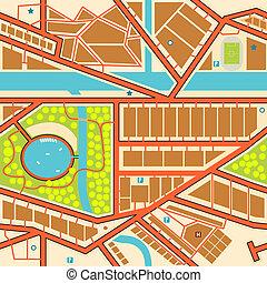 stadt, seamless, landkarte