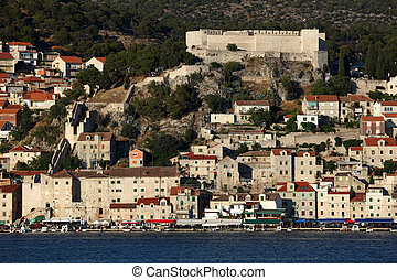 stadt, sibenik, historisch, kroatien, veiw