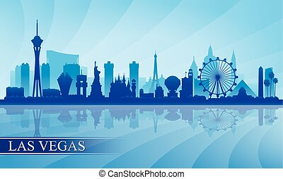 stadt, silhouette, skyline, las vegas, hintergrund, las