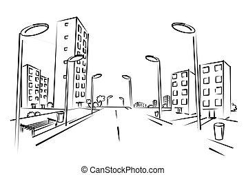 Straße Gezeichnet
