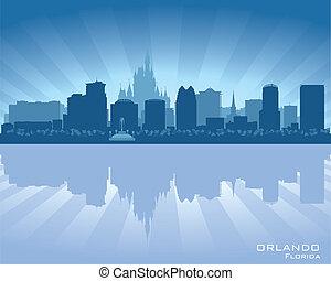 stadt skyline, silhouette, florida, orlando