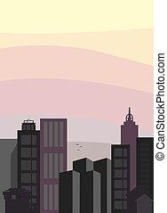 stadt skyline, vektor