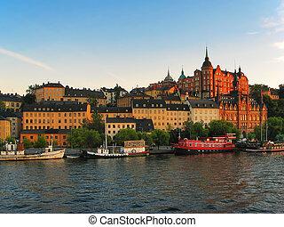 stadt, stockholm, altes