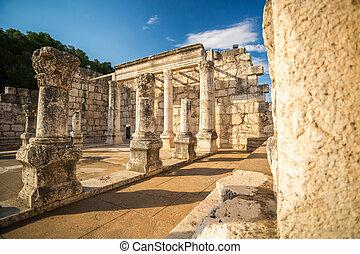 stadt, synagoge, capernaum, jesus