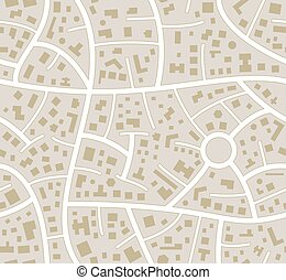 stadt, vektor, seamless, straßenkarte