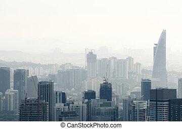 stadt, verunreinigung, luft