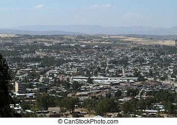stadt, von, mekele, in, äthiopien