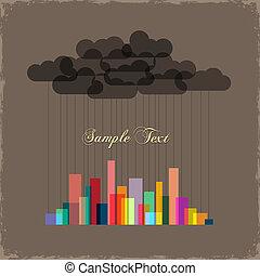 stadt, von, rainbow., begriff, vektor, hintergrund