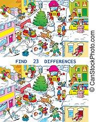 stadt, vorher, weihnachten, straße